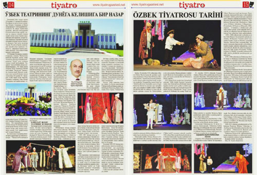 Газета «Tiyatro» - о театре из Кашкадарьи