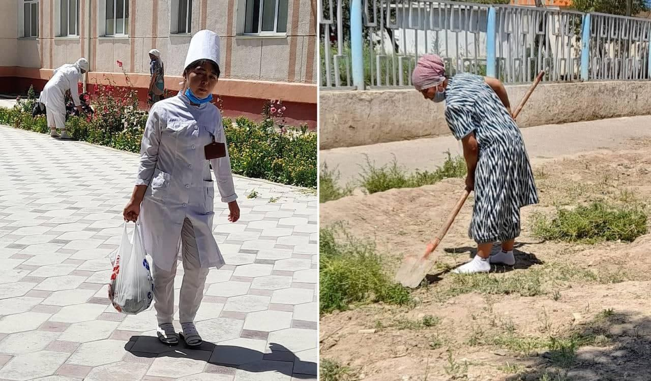 Медработников в Кашкадарье заставили выполнять обязанности уборщиц