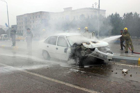 ДТП спровоцировало возгорание авто