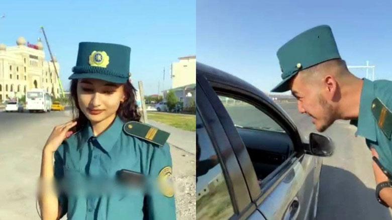 В Кашкадарье оштрафовали тиктокеров, изображавших сотрудников УБДД
