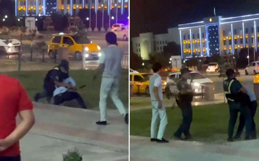 Молодые каршинцы затеяли драка с правоохранителями